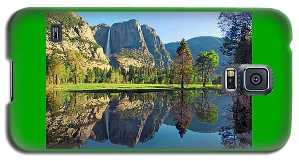 Reflections Of Yosemite Falls Galaxy S5 Case by Lynn Bauer