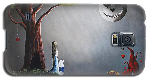 Castle Galaxy S5 Case - Alice In Wonderland Original Artwork by Shawna Erback