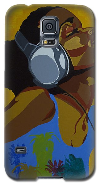 Galaxy S5 Case featuring the painting Rhythms In The Sun by Rachel Natalie Rawlins