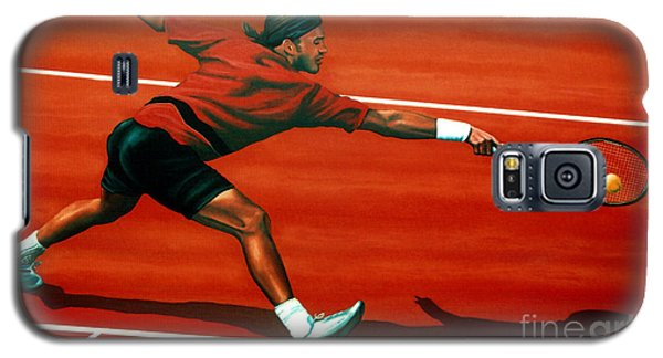Roger Federer At Roland Garros Galaxy S5 Case
