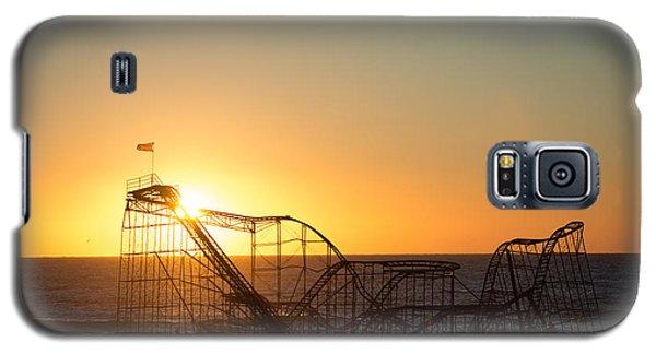 Roller Coaster Sunrise Galaxy S5 Case