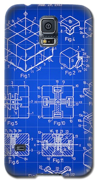 Rubik's Cube Patent 1983 - Blue Galaxy S5 Case by Stephen Younts