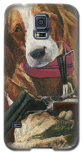 Galaxy S5 Case featuring the painting Rusty - A Hunting Dog by Mary Ellen Anderson