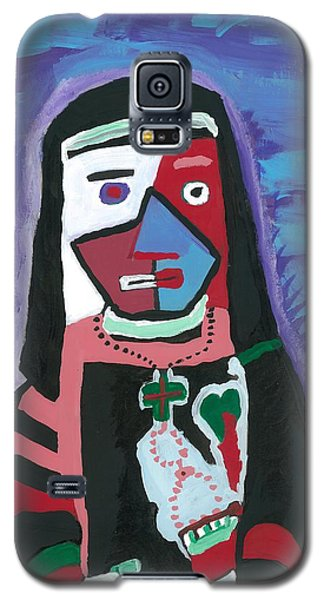Galaxy S5 Case featuring the painting Sad Nun by Don Koester