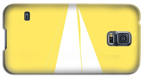 Sailboat In Yellow And White Galaxy S5 Case