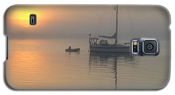 Sailboat Reflection Galaxy S5 Case by Bob Sample