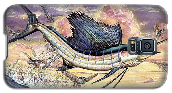Sailfish And Flying Fish In The Sunset Galaxy S5 Case