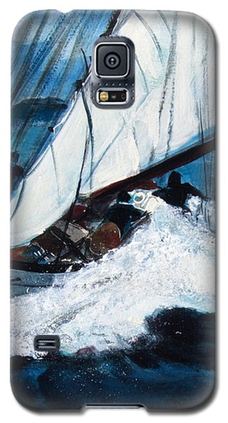 Galaxy S5 Case featuring the painting Sailing by Betty Pieper