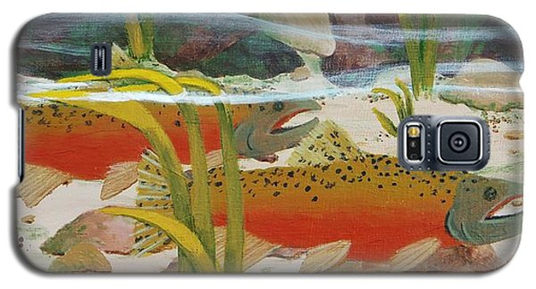 Salmon Galaxy S5 Case by Katherine Young-Beck