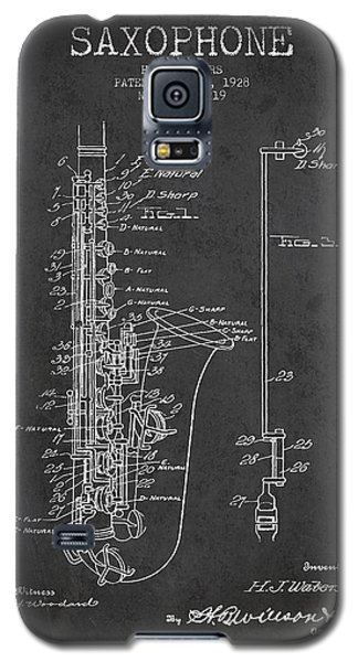 Saxophone Patent Drawing From 1928 Galaxy S5 Case