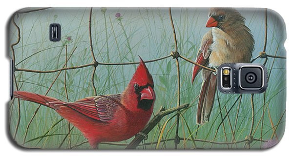 Galaxy S5 Case featuring the painting Scarlet by Mike Brown