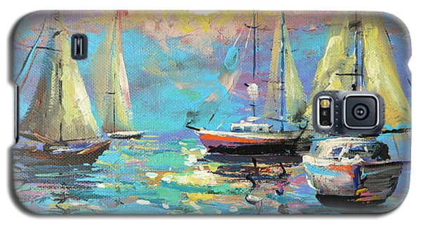 Galaxy S5 Case featuring the painting Sea Breeze by Dmitry Spiros