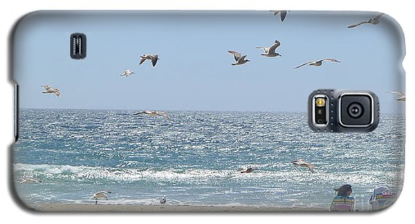 Galaxy S5 Case featuring the photograph Seagulls by Nora Boghossian