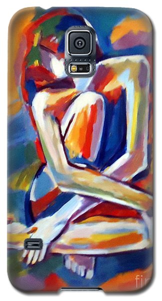 Galaxy S5 Case featuring the painting Seated Figure by Helena Wierzbicki