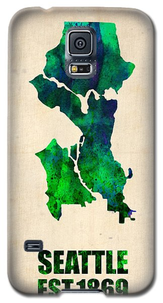 Seattle Watercolor Map Galaxy S5 Case by Naxart Studio