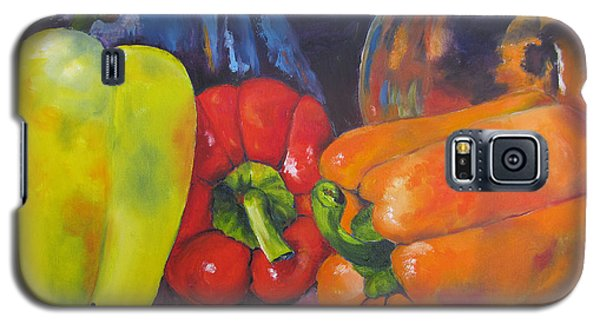 Shades Of Peppers Galaxy S5 Case by Lisa Boyd