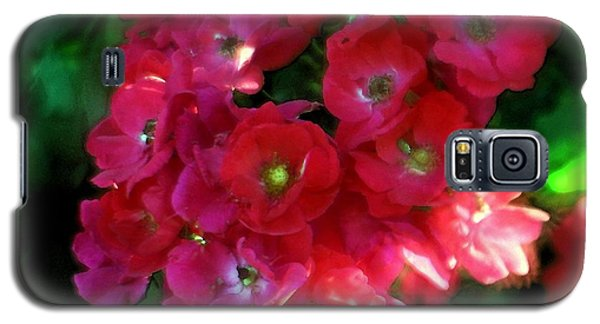 Galaxy S5 Case featuring the photograph Shades Of Red by Mary Lou Chmura
