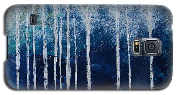 Galaxy S5 Case featuring the painting Shivver by Linda Bailey