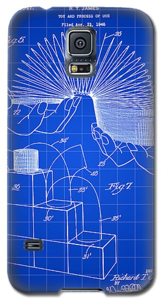 Slinky Patent 1946 - Blue Galaxy S5 Case by Stephen Younts