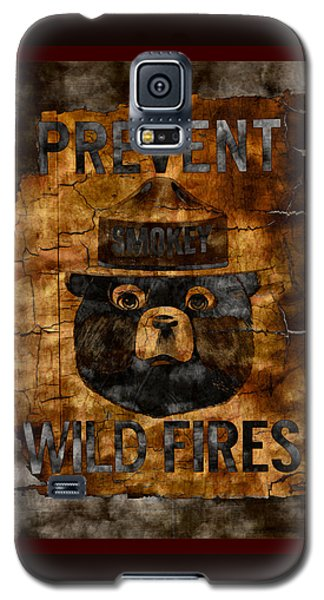 Smokey The Bear Only You Can Prevent Wild Fires Galaxy S5 Case by John Stephens
