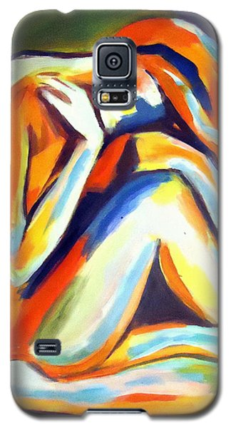 Galaxy S5 Case featuring the painting Solitude by Helena Wierzbicki