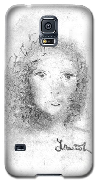 Galaxy S5 Case featuring the drawing Something About Mary by Laurie L