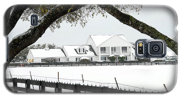 Southfork Ranch In Winter Galaxy S5 Case