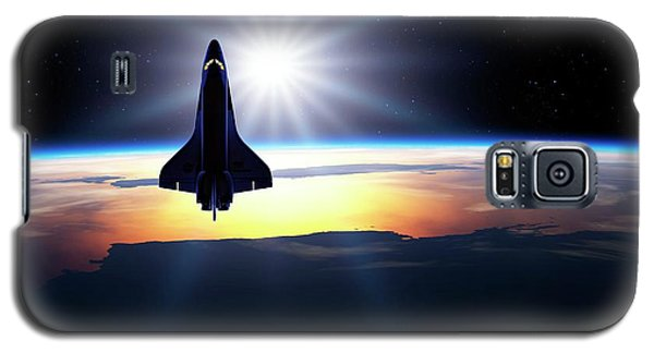 Space Shuttle In Orbit Galaxy S5 Case by Detlev Van Ravenswaay