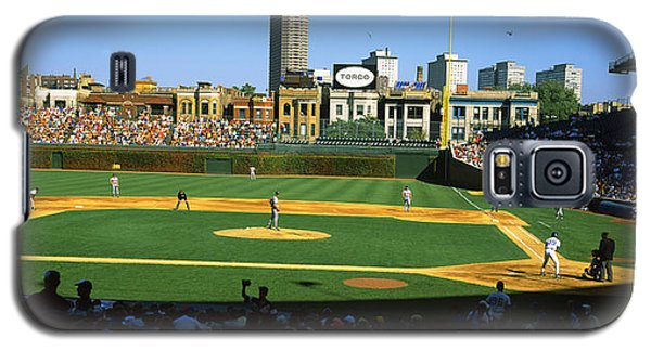 Spectators In A Stadium, Wrigley Field Galaxy S5 Case by Panoramic Images