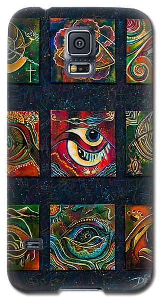 Galaxy S5 Case featuring the painting Spirit Eye Collection II by Deborha Kerr