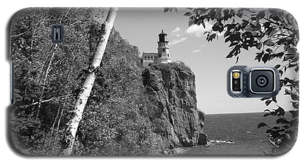 Split Rock Black And White Galaxy S5 Case by Bonfire Photography