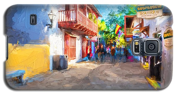 St George Street St Augustine Florida Painted Galaxy S5 Case