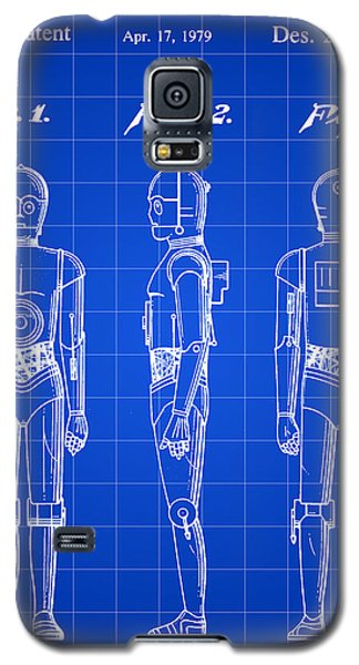 R2-d2 Galaxy S5 Case - Star Wars C-3po Patent 1979 - Blue by Stephen Younts