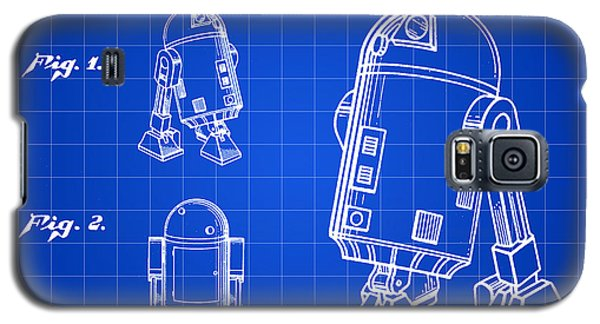 R2-d2 Galaxy S5 Case - Star Wars R2-d2 Patent 1979 - Blue by Stephen Younts
