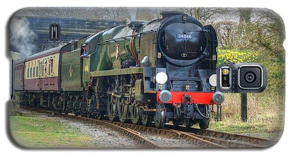 Steam Locomotive 34046 Braunton Galaxy S5 Case