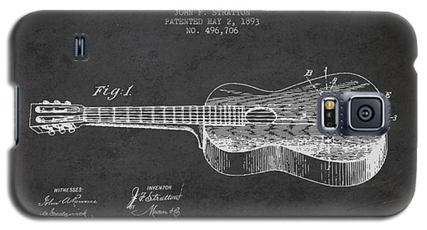Stratton Guitar Patent Drawing From 1893 Galaxy S5 Case