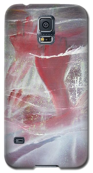 Galaxy S5 Case featuring the painting String Theory - Praise by Carrie Maurer