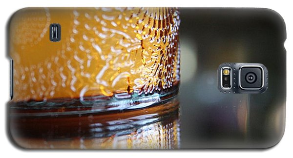 Galaxy S5 Case featuring the photograph Studies In Glass ...amber  by Lynn England