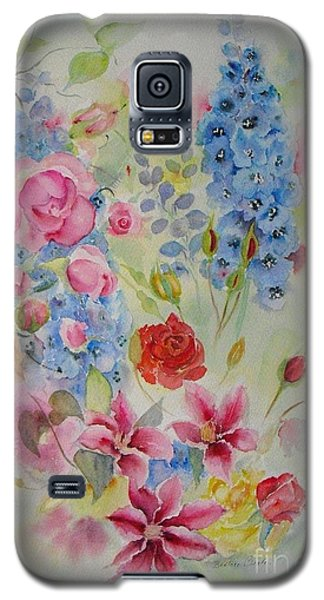 Galaxy S5 Case featuring the painting Summer Border by Beatrice Cloake