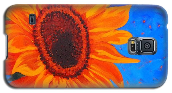 Sunflower Glow Galaxy S5 Case by Janet McDonald