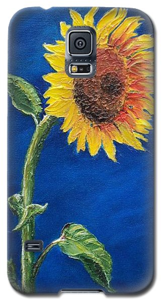 Galaxy S5 Case featuring the painting Sunflower In The Light by Jesslyn Fraser