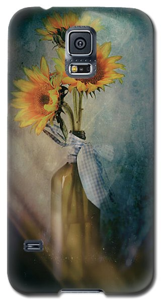 Galaxy S5 Case featuring the photograph Sunflowers by James Bethanis