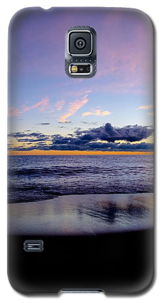 Galaxy S5 Case featuring the photograph Sunrise Lake Michigan September 14th 2013 004 by Michael  Bennett