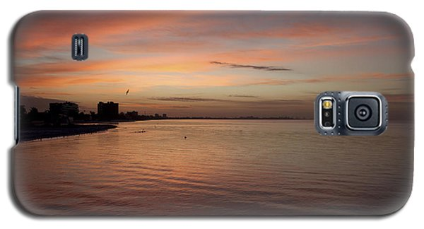 Galaxy S5 Case featuring the photograph Sunrise Over Fort Myers Beach Photo by Meg Rousher