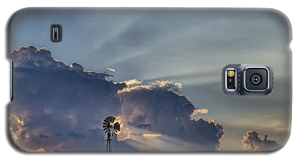 Galaxy S5 Case featuring the photograph Sunset And Windmill by Rob Graham