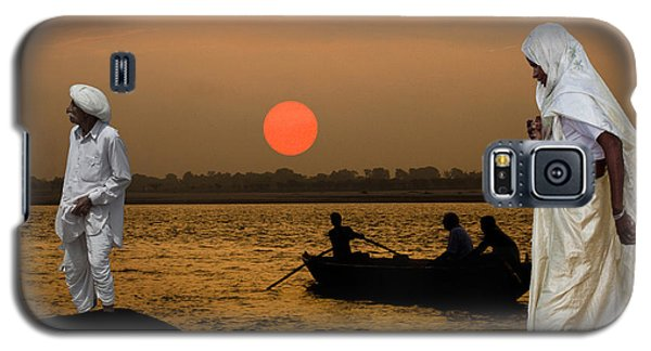 Sunset On Ganges Galaxy S5 Case by Angelika Drake