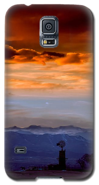 Galaxy S5 Case featuring the photograph Sunset Over The Rockies by Kristal Kraft