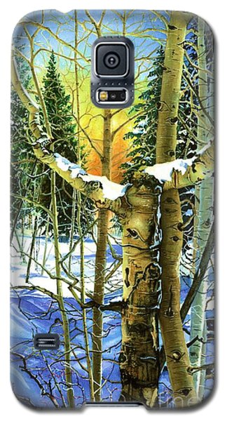 Galaxy S5 Case featuring the painting Supplication-psalm 28 Verse 2 by Barbara Jewell