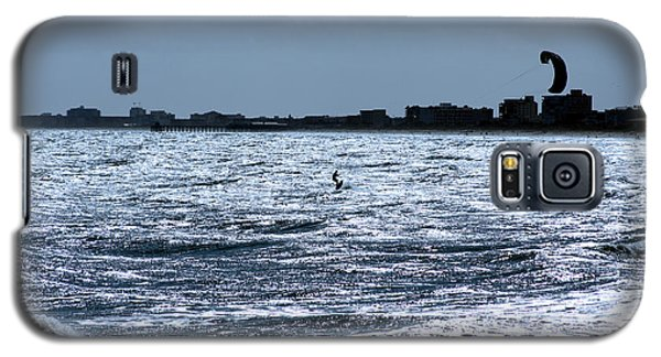 Galaxy S5 Case featuring the photograph Surfing In Blue by Chris Thomas