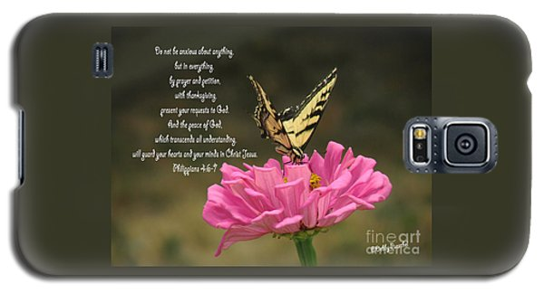 Swallowtail On A Zinnia Galaxy S5 Case